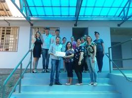 Entrega de Kits Escolares na Escola Rainha dos Apóstolos, em Lagoa Bonita do Sul.